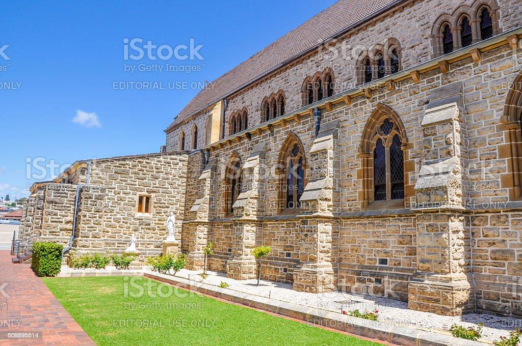 St. Patrick's Basilica: Arched Windows stock photo
