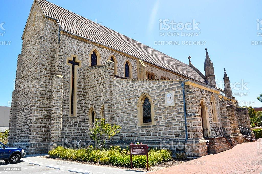 St. Patrick's Basilica: Cross Window stock photo