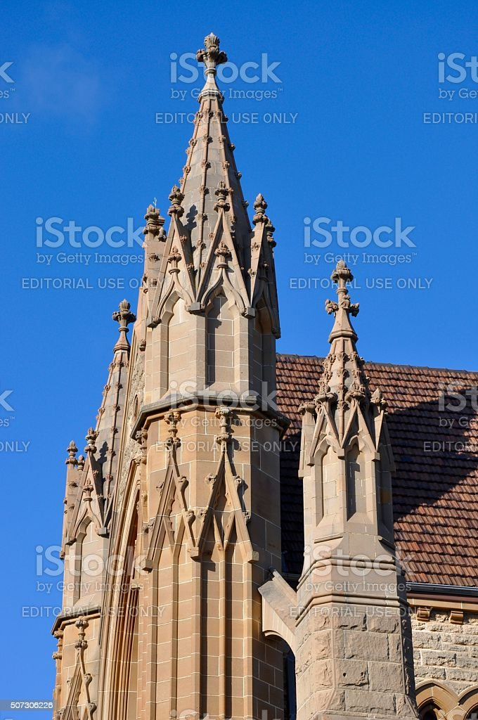 St. Patrick's Basilica: Federation Gothic in Fremantle stock photo