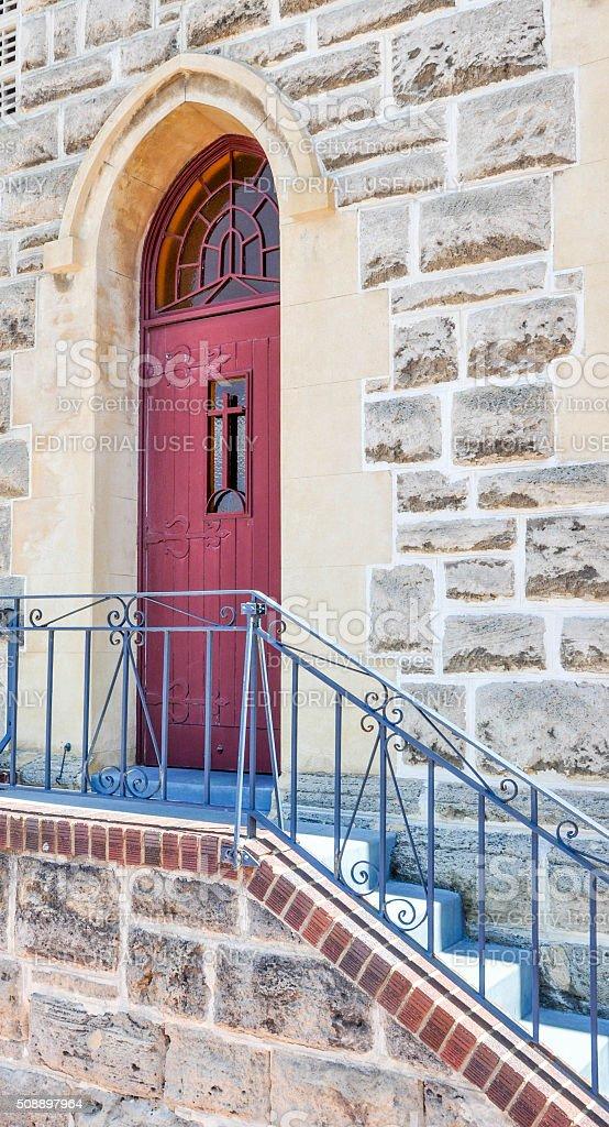 St. Patrick's Basilica: Side Door stock photo
