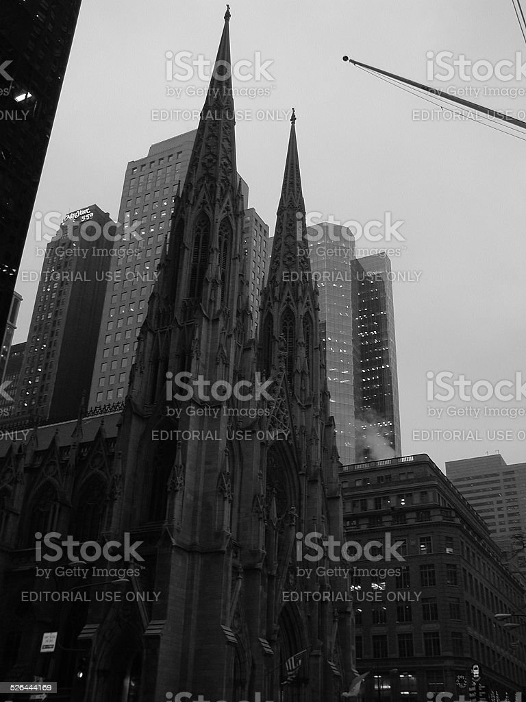 St Patrick's Cathedral 5th Ave NYC 2001 stock photo