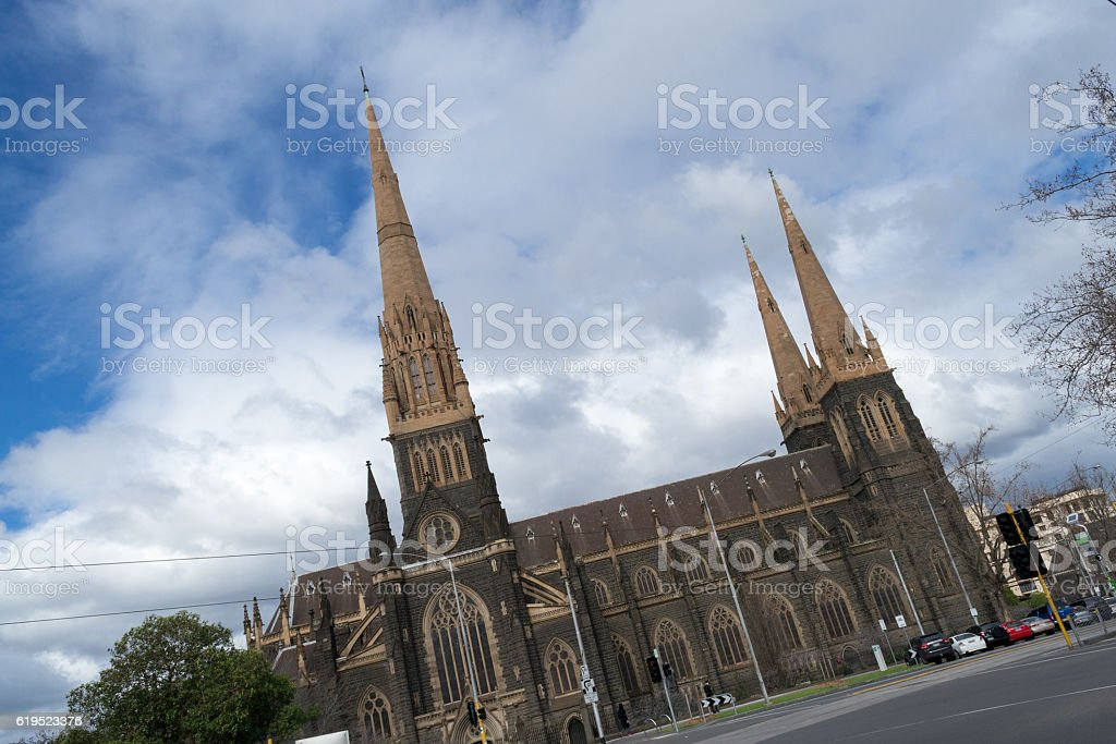 St Patricks cathedral cathedral in melbourne stock photo