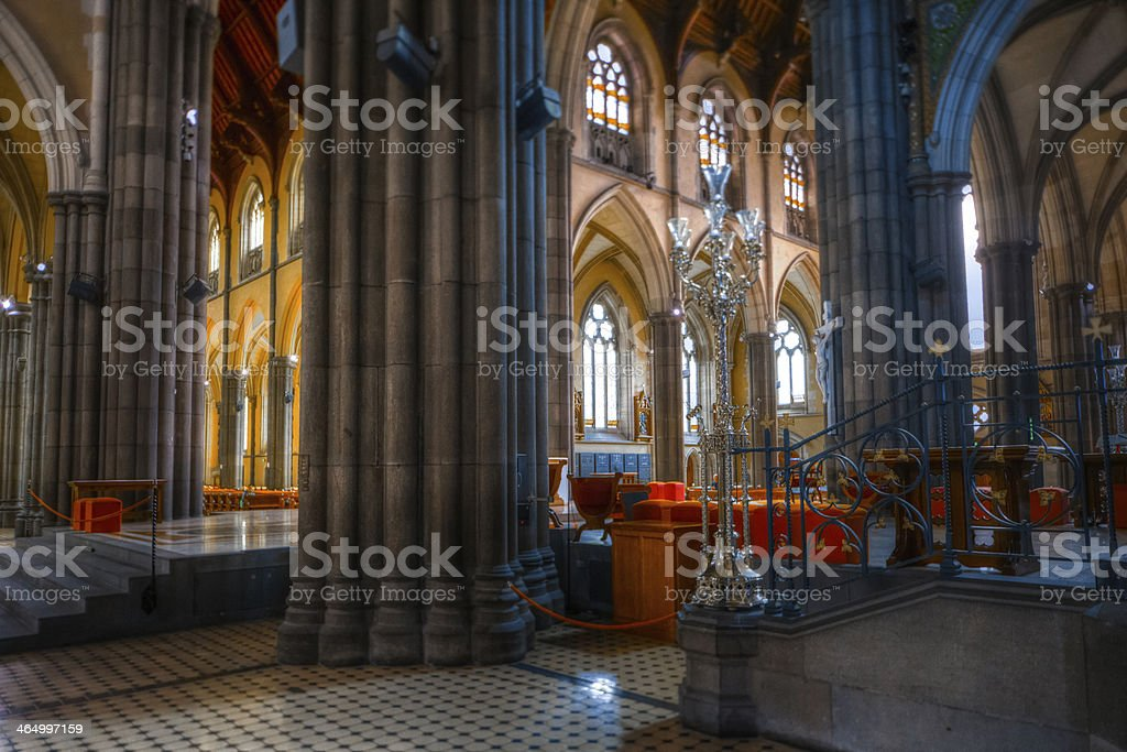 St. Patricks Cathedral Church Melbourne stock photo