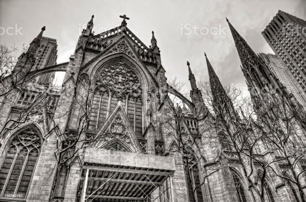 St Patrick's Cathedral in HDR royalty-free stock photo