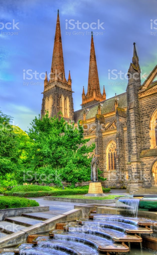 St Patrick's Cathedral in Melbourne, Australia stock photo
