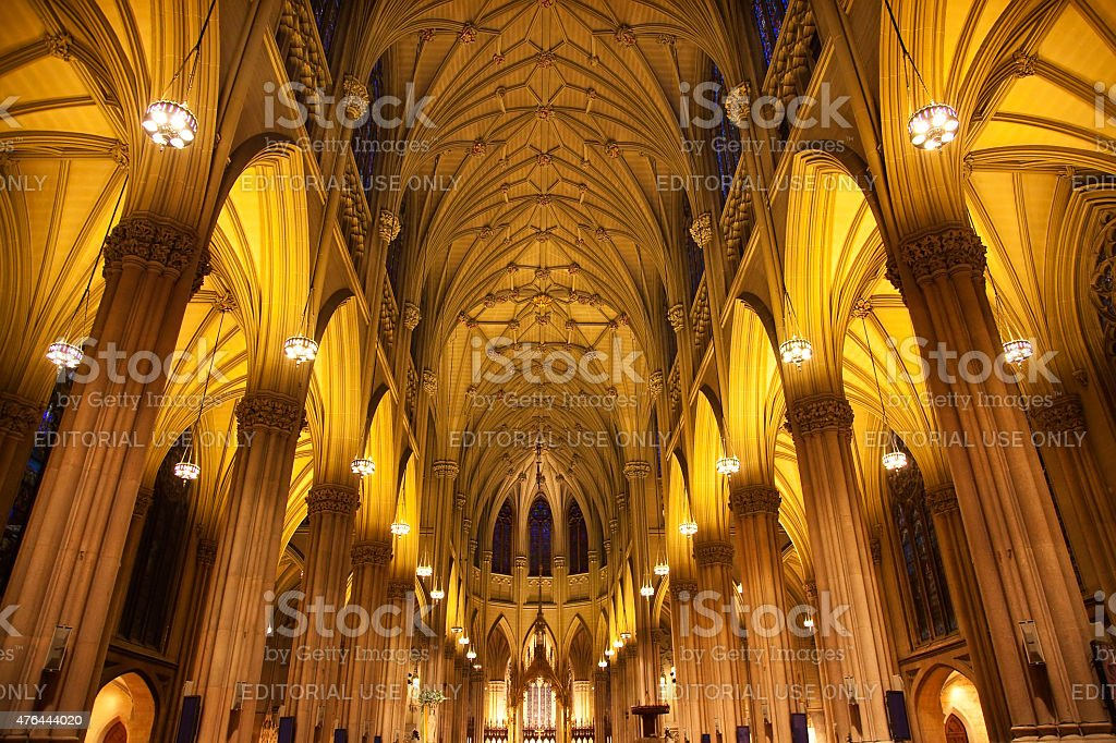 St. Patrick's Cathedral Insides New York City stock photo