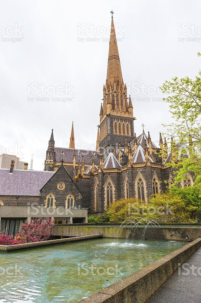 St Patrick's Cathedral, Melbourne stock photo