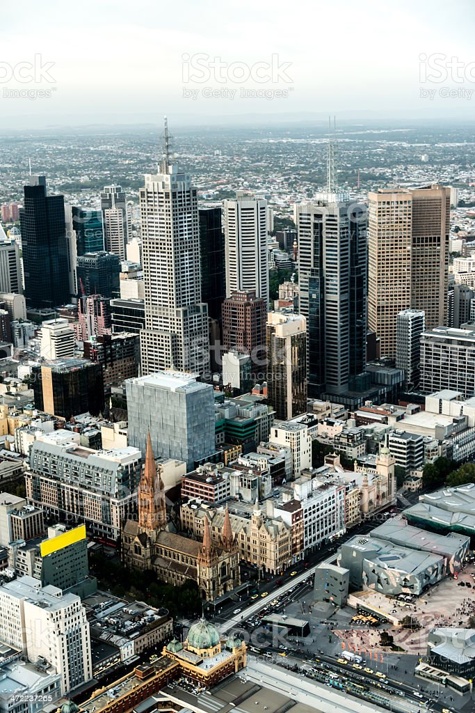 St Patrick's Cathedral - Melbourne stock photo
