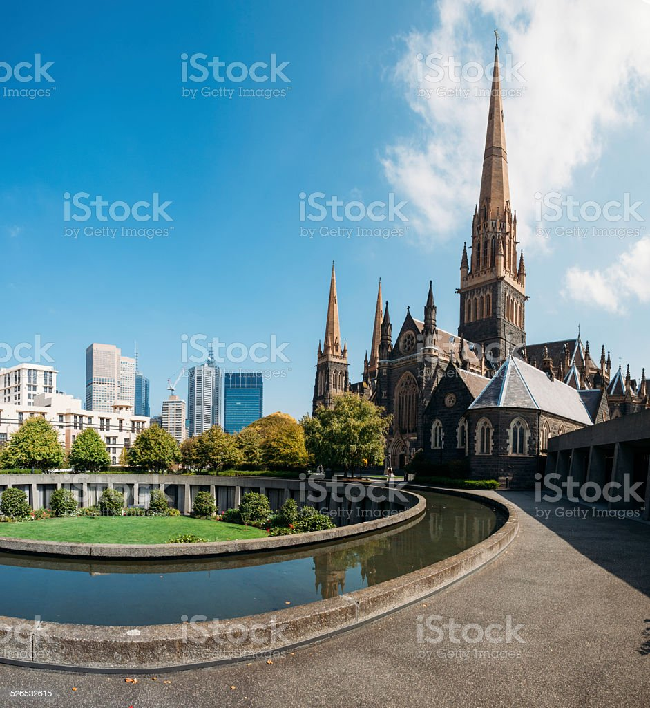 St Patrick's Cathedral Melbourne stock photo
