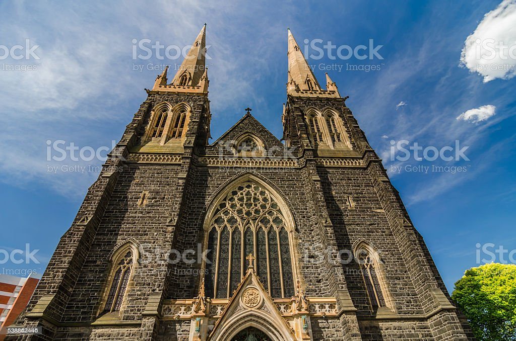St Patrick's Cathedral - Melbourne , Victoria , Australia stock photo
