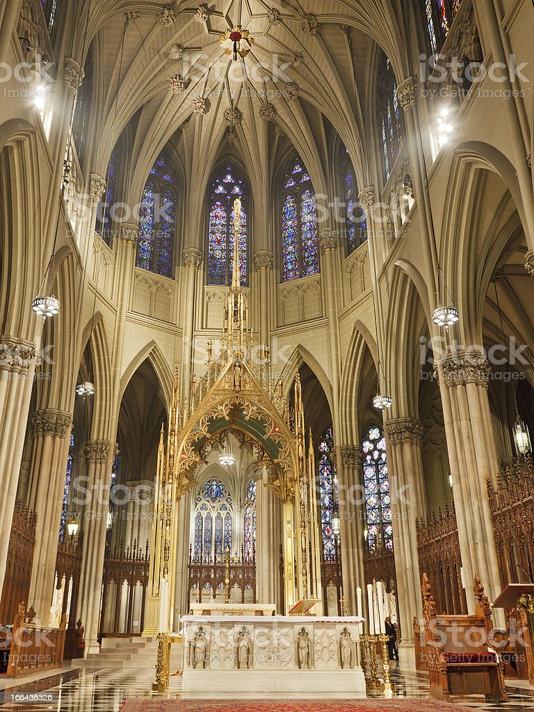 St. Patrick's Cathedral New York stock photo