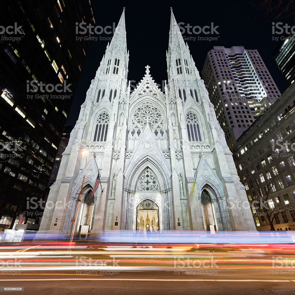 St. Patrick's Cathedral - New York stock photo