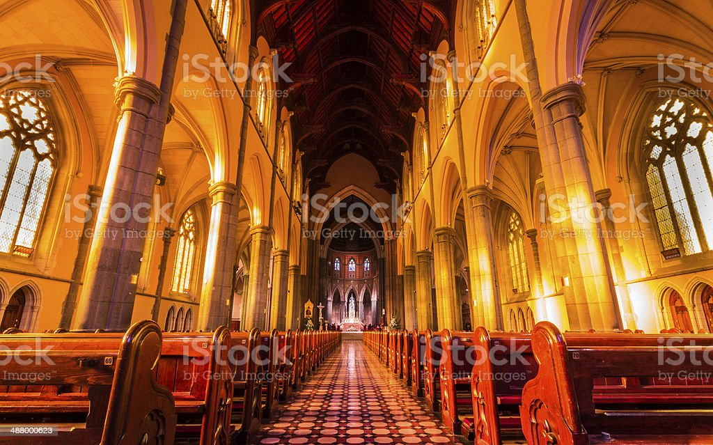 St Patrick's Cathedral stock photo