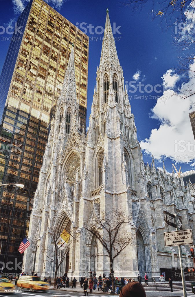 St. Patrick's Cathedral (Manhattan). stock photo