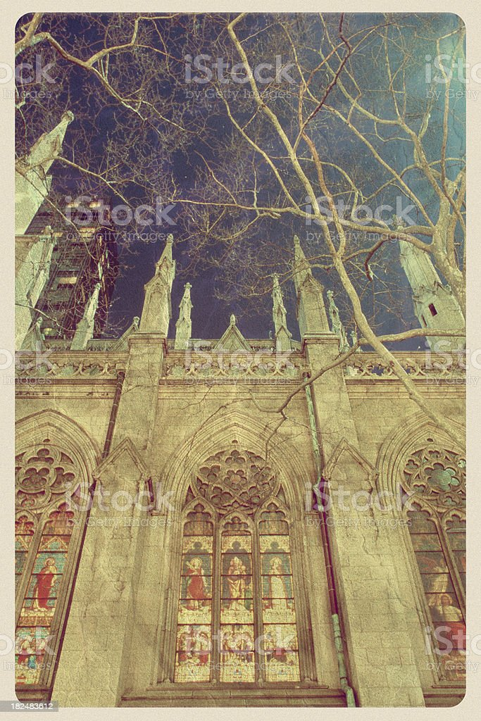 St. Patrick's Cathedral - Vintage Postcard royalty-free stock photo
