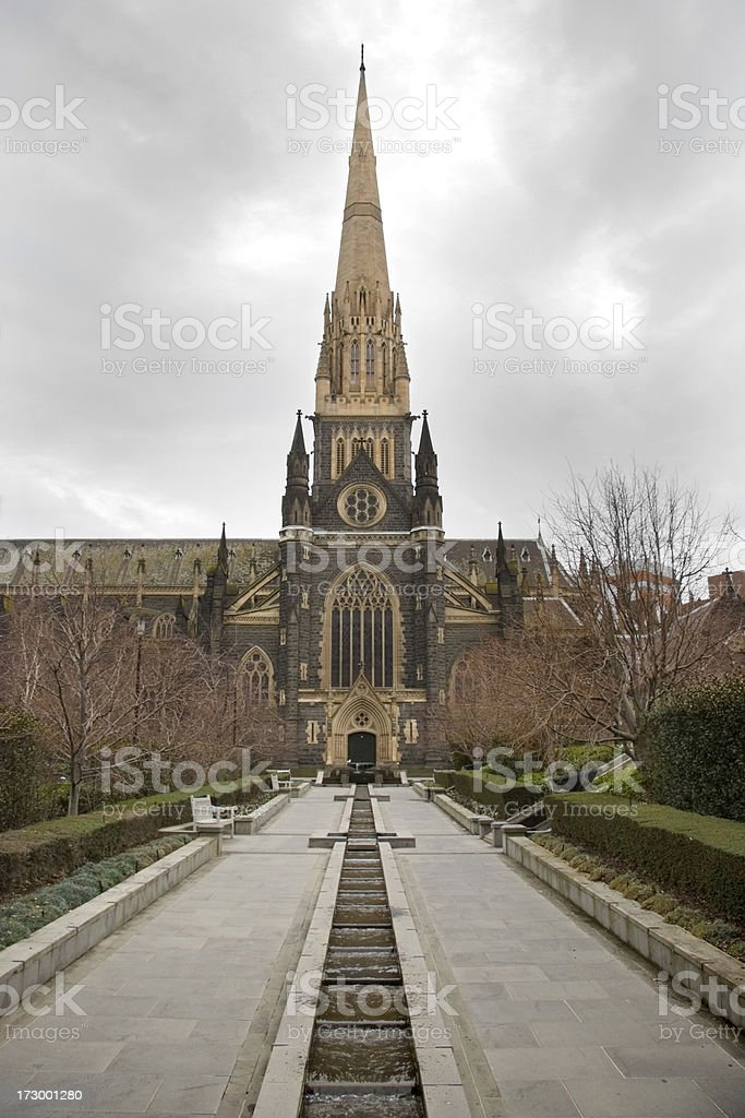 St. Patrick's Catholic Cathedral stock photo