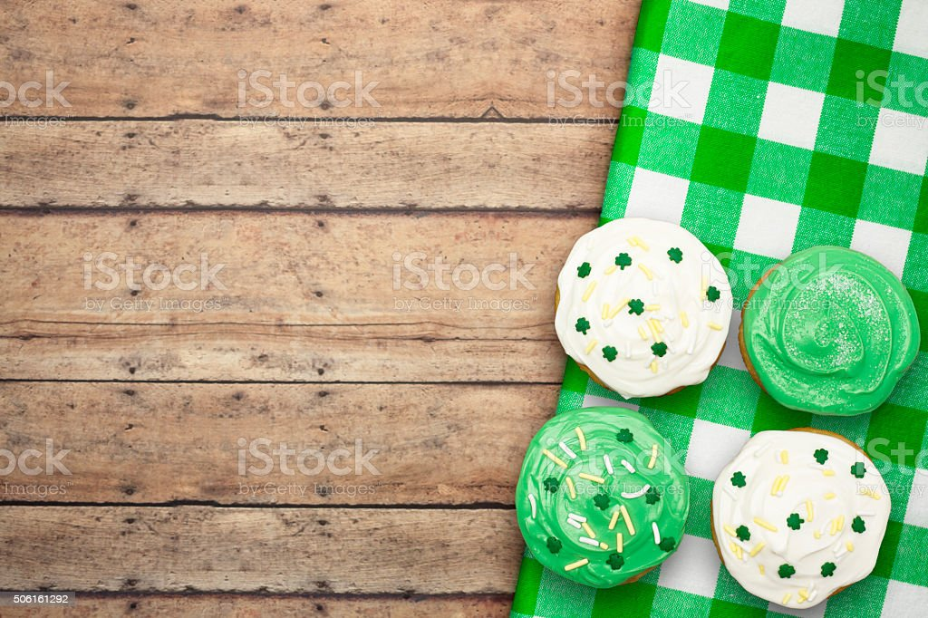 St. Patrick's Cupcakes stock photo