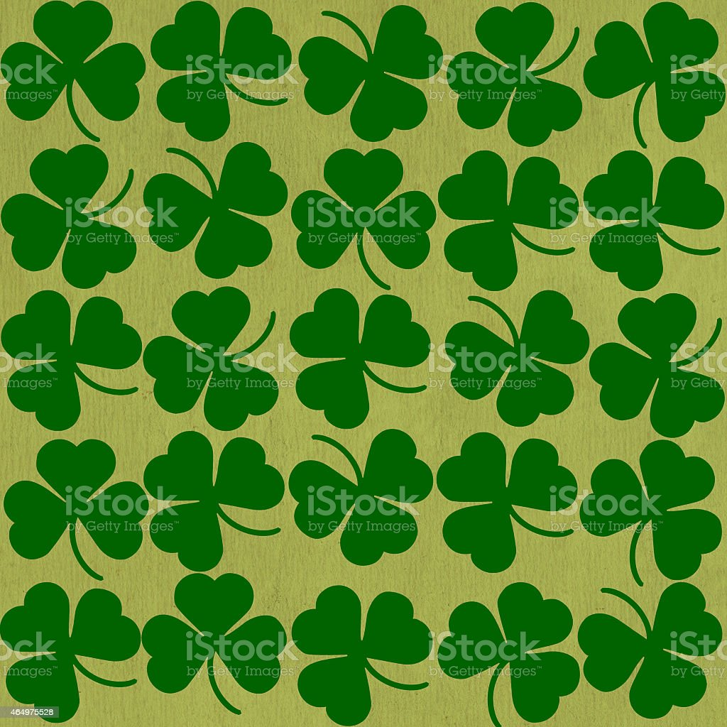 St. Patrick's day background in green colors. Seamless pattern stock photo