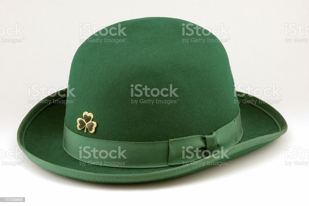St. Patrick's Day Bowler Hat royalty-free stock photo