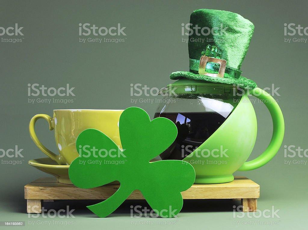 St Patrick's Day breakfast setting royalty-free stock photo
