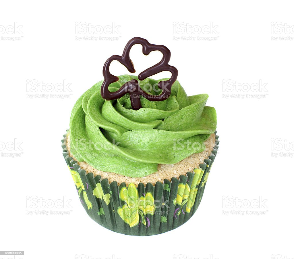 St. Patrick's Day cupcake royalty-free stock photo