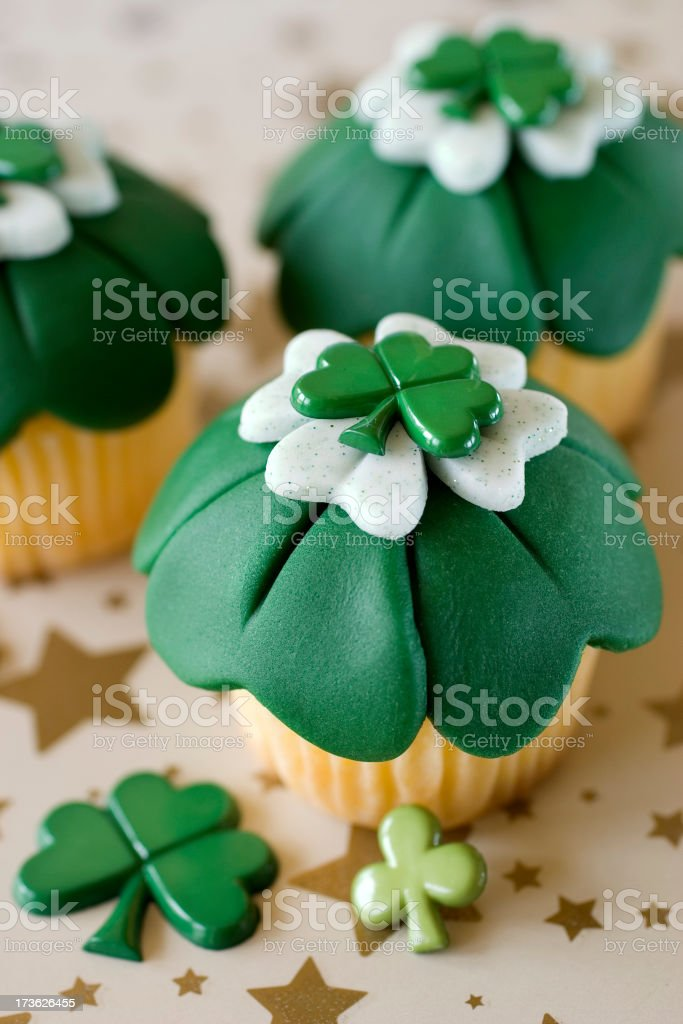 St. Patrick's Day Cupcakes 6 royalty-free stock photo