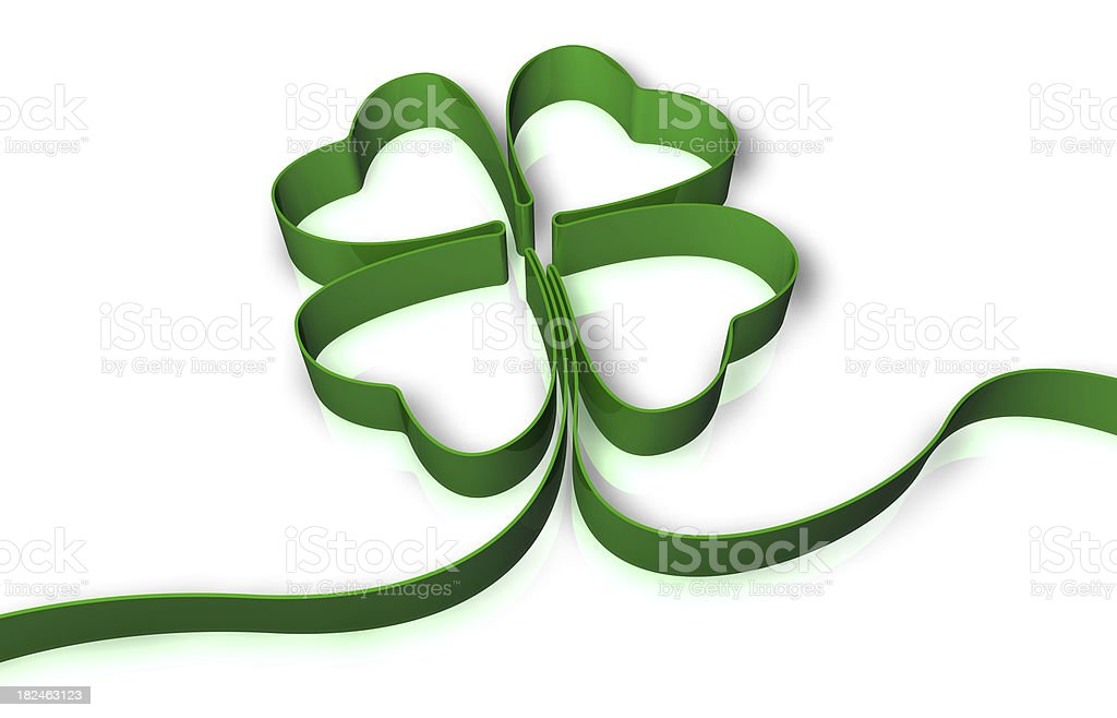 St. Patrick's Day Four Leaf Clover stock photo