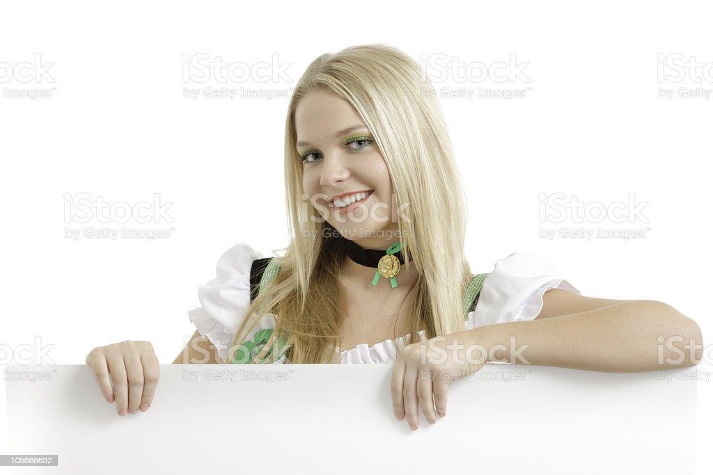 St. Patrick's Day girl royalty-free stock photo