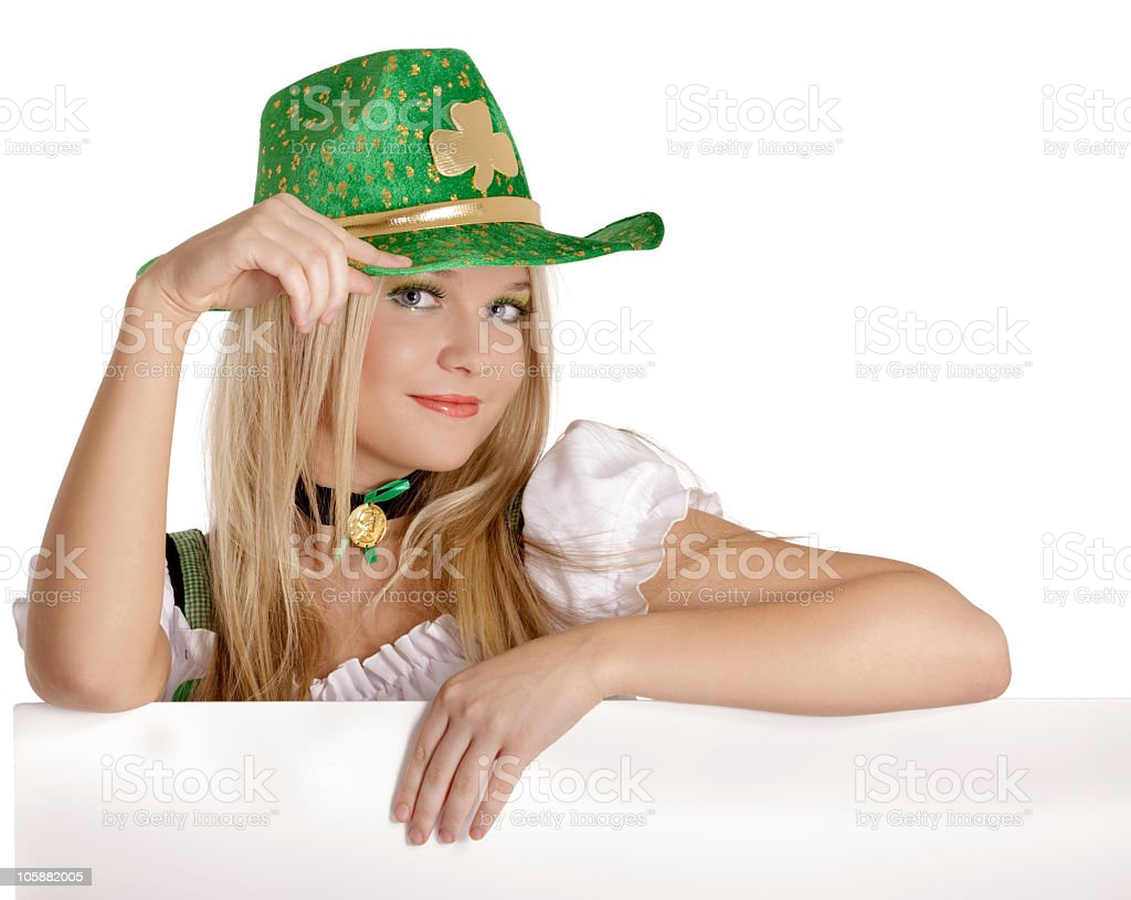 St. Patrick's Day girl stock photo