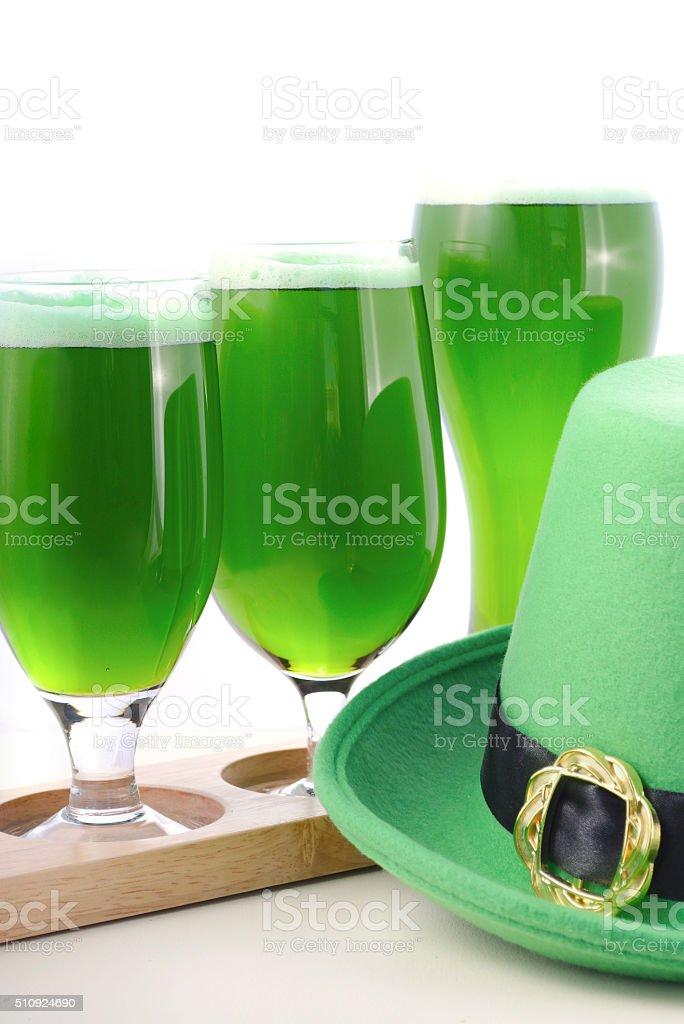 St Patricks Day green beer stock photo