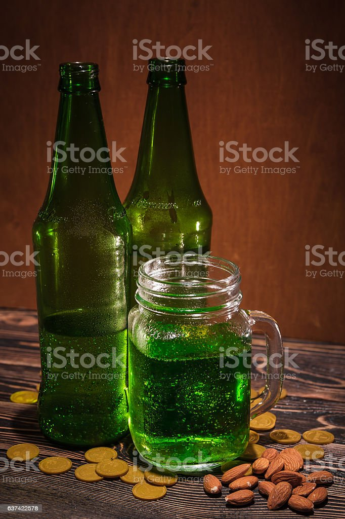 St Patrick's day green beer stock photo