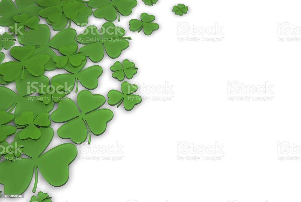 St. Patrick's Day Green Clover Background stock photo