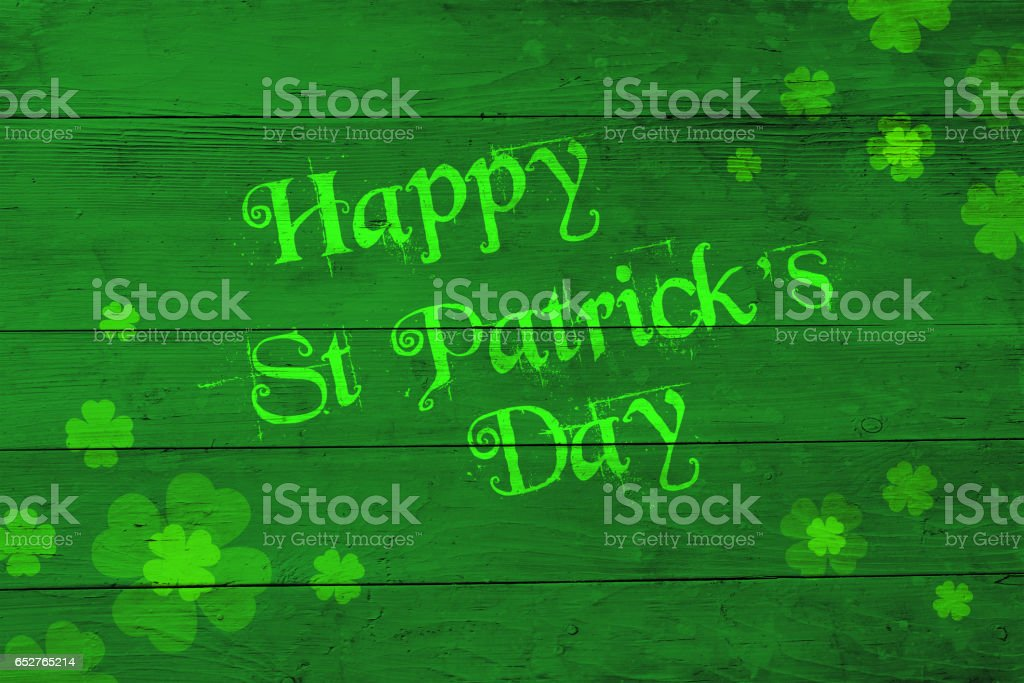St Patricks day green greeting stock photo