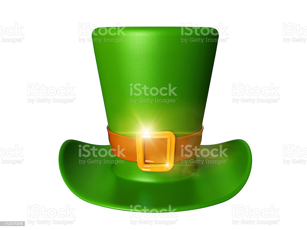 St. Patrick's day green hat of a leprechaun royalty-free stock photo
