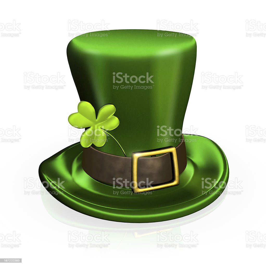 St. Patrick's Day hat with clover royalty-free stock photo