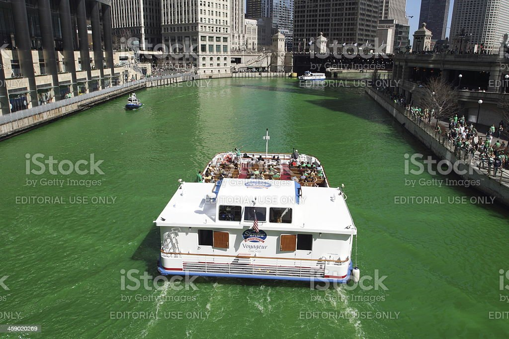 St Patrick's Day in Chicago stock photo