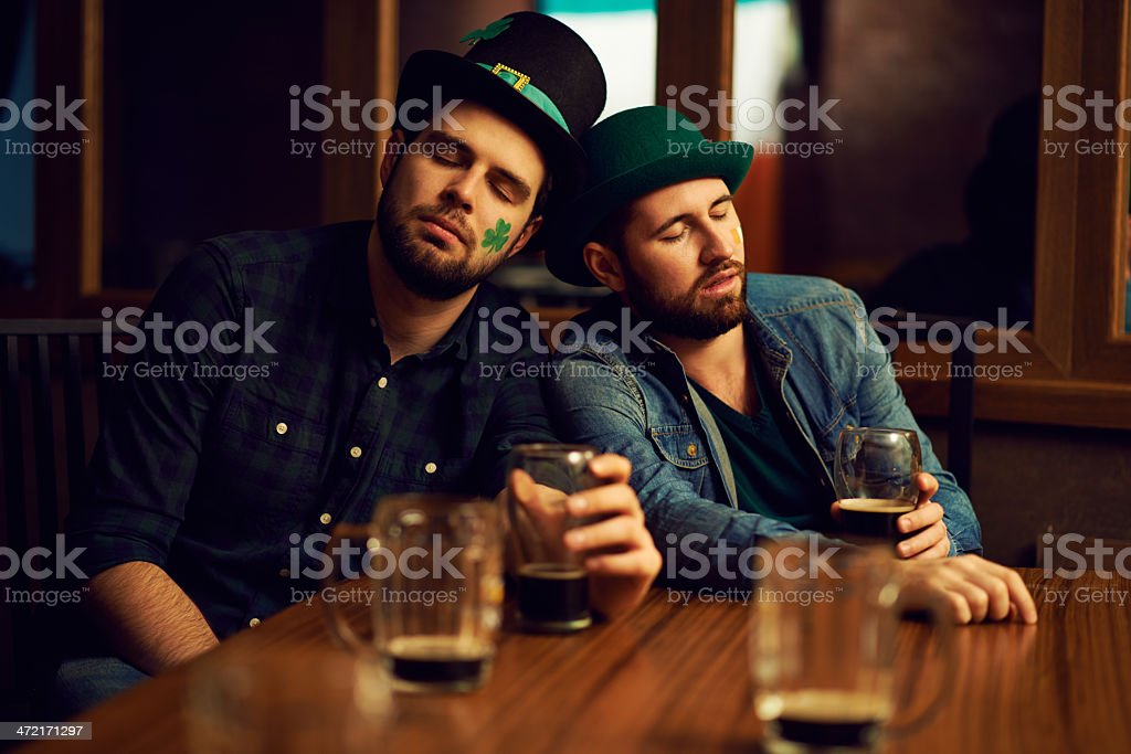 St Patrick's Day is over stock photo