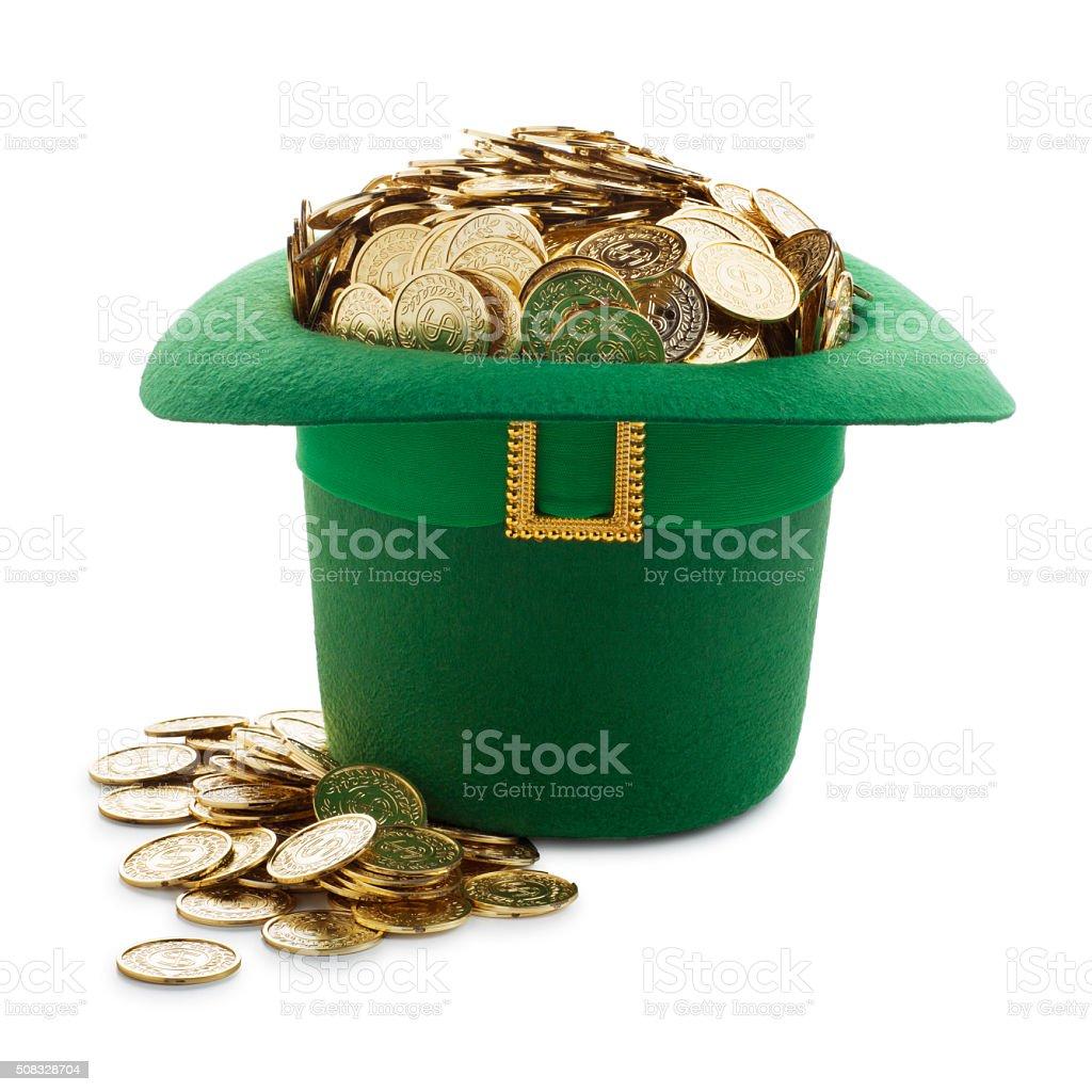 St. Patrick's Day Jackpot Winner on white background stock photo