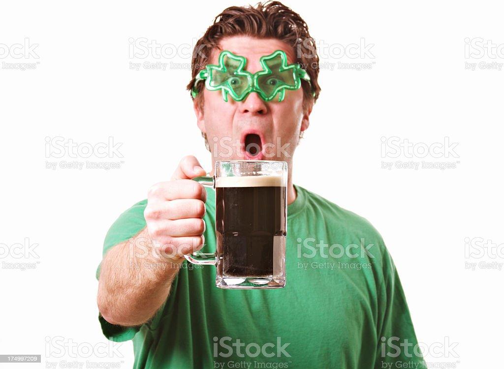 St Patrick's Day Man royalty-free stock photo