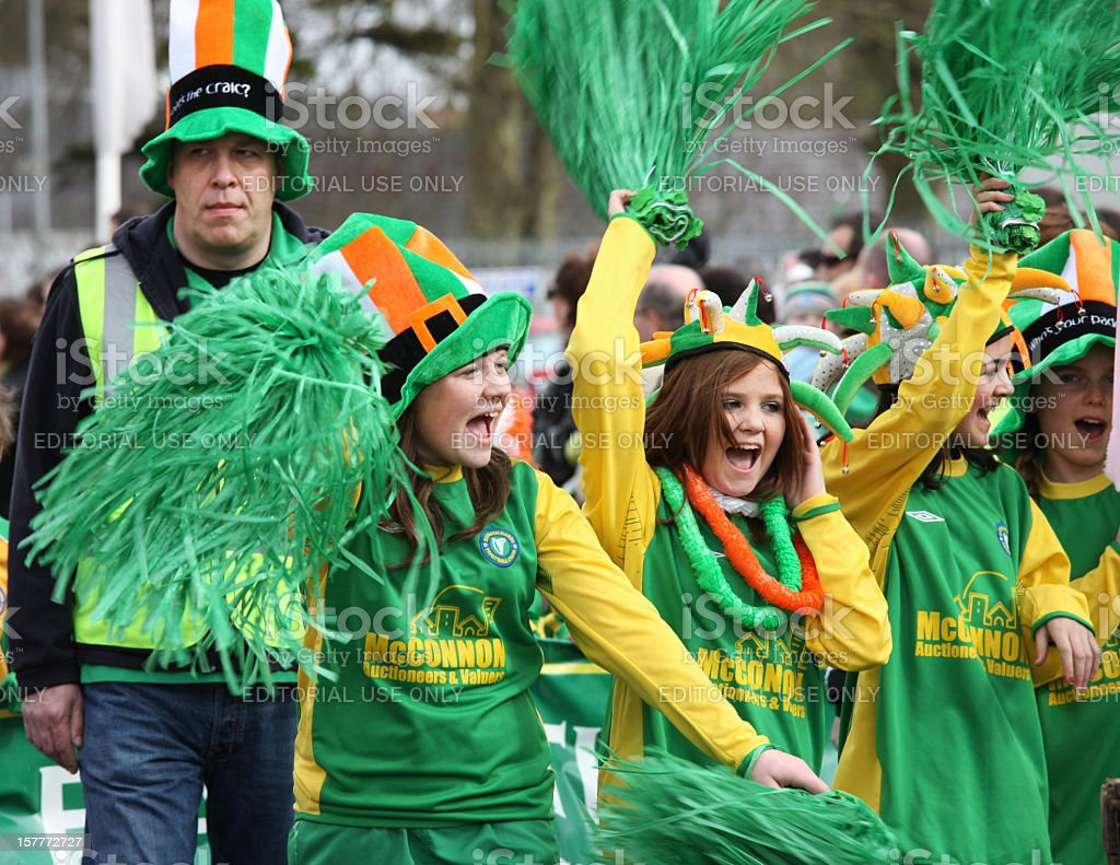 St Patrick's day parade royalty-free stock photo