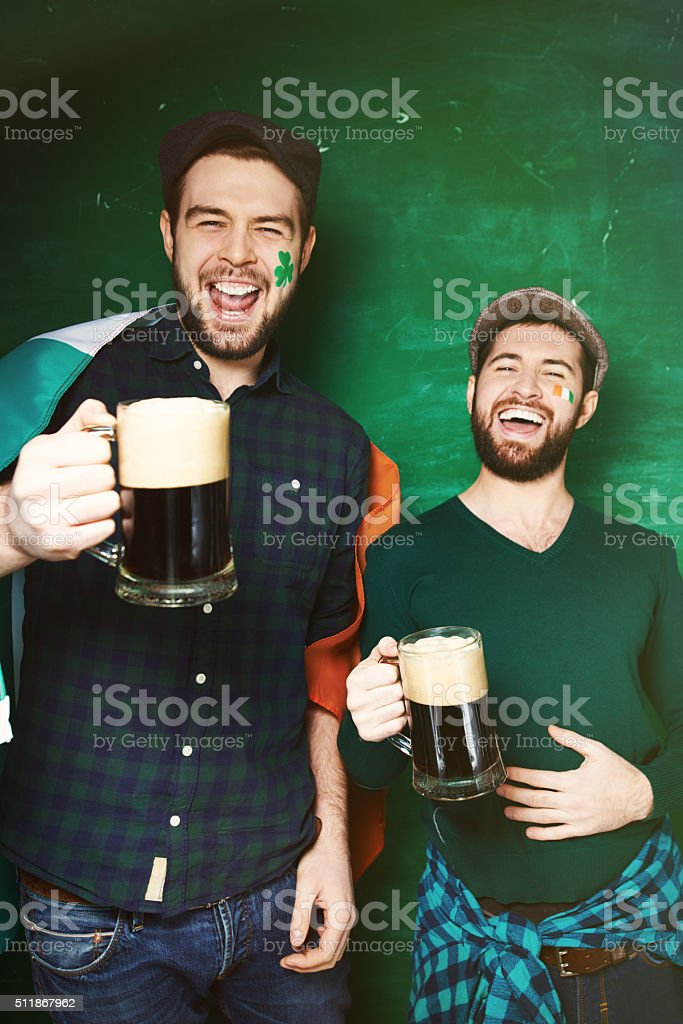 St Patrick's Day party stock photo