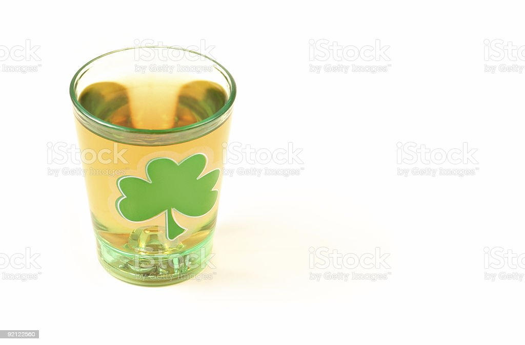 St. Patrick's Day Shot royalty-free stock photo