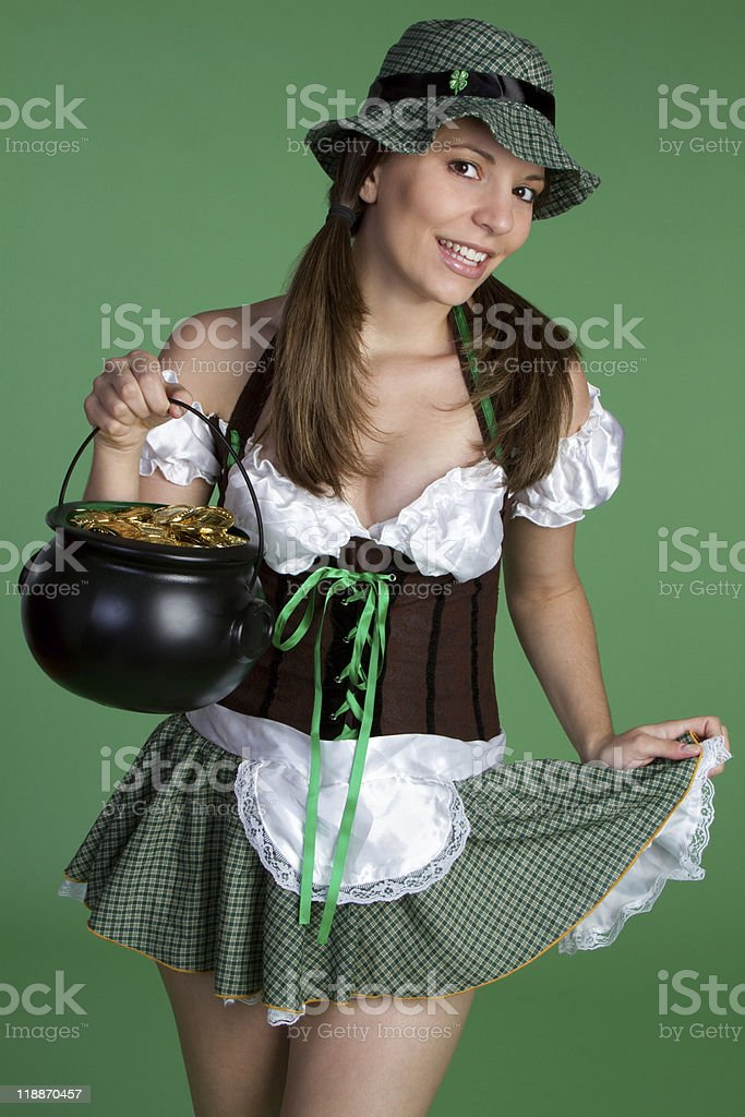St Patrick's Day Woman royalty-free stock photo