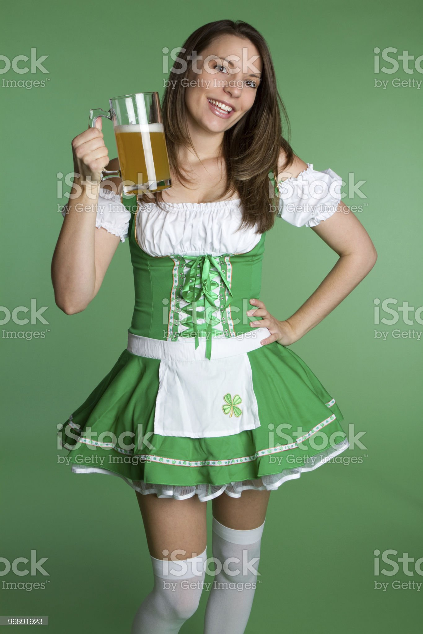 St. Patricks Girl royalty-free stock photo