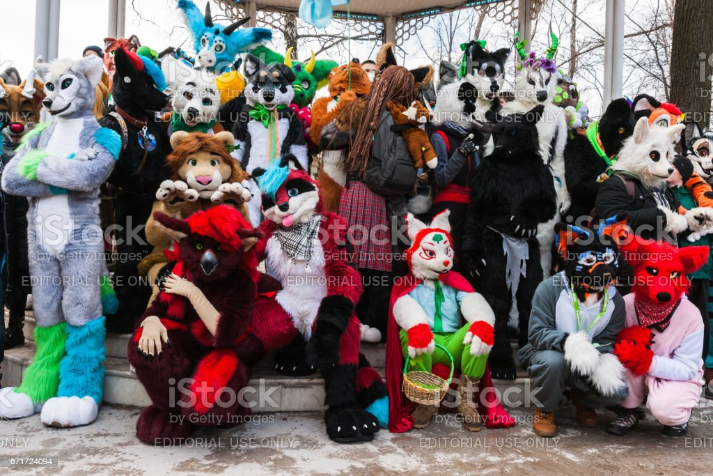 St Patrics Day Parade in Moscow stock photo