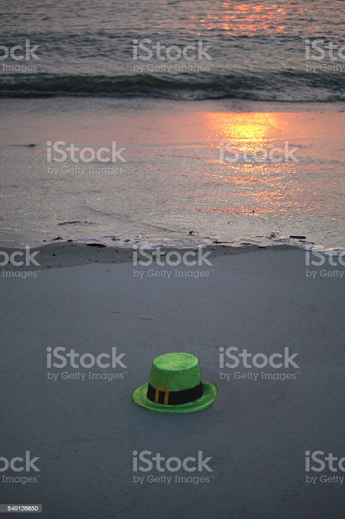 St. Patty's Day Beach stock photo