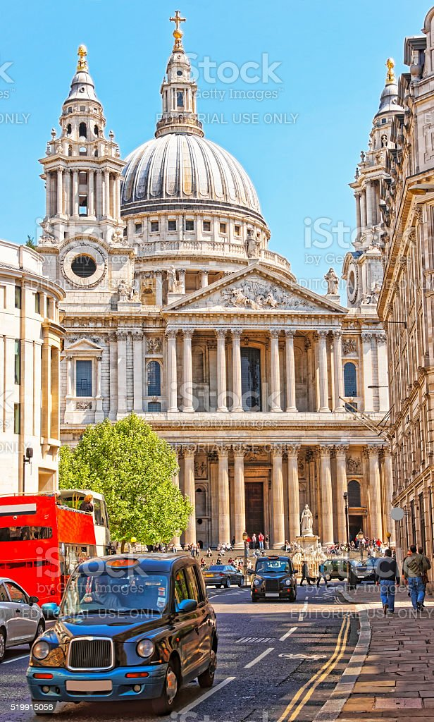 St Paul Cathedral in London in England stock photo