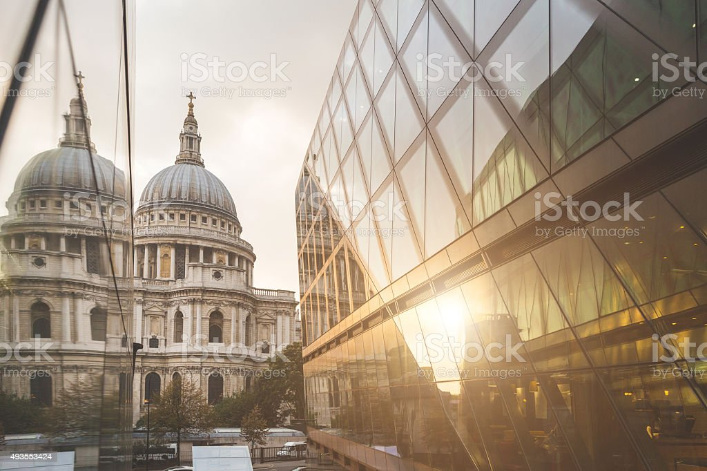 St Paul Cathedral in London stock photo