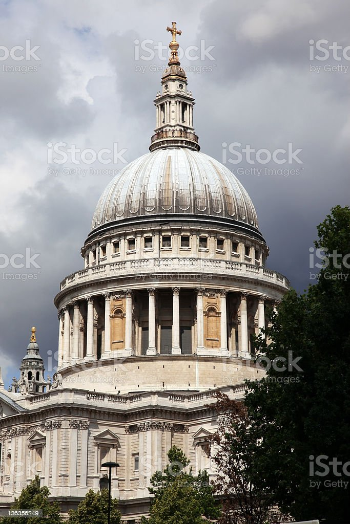 St Paul Cathedral in London, UK royalty-free stock photo