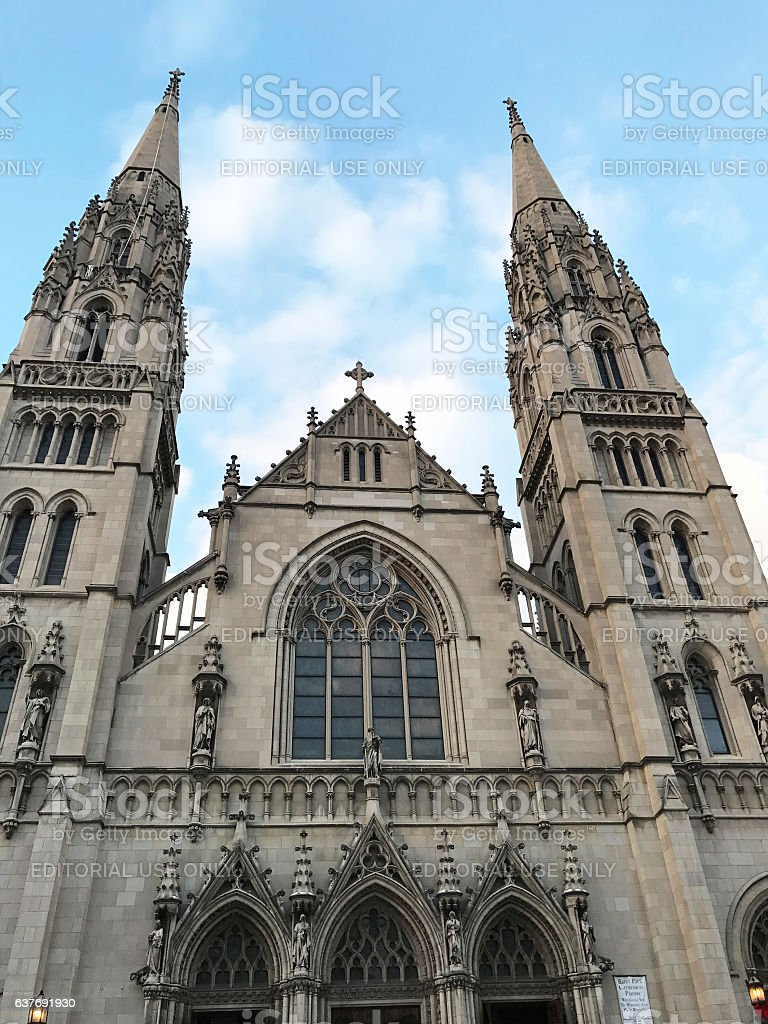St. Paul Cathedral in Pittsburgh stock photo